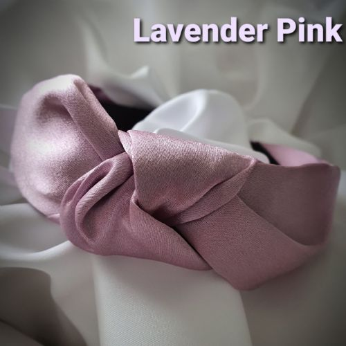 Lavender Pink Satin Knotted Headband